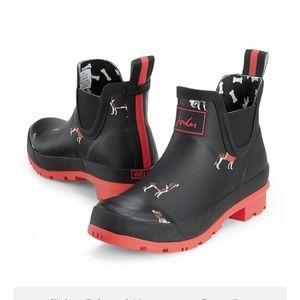 Joules dog puppy print rain boots 37 6